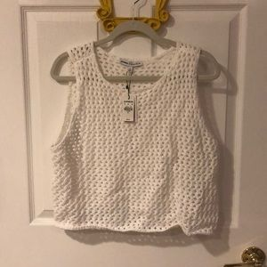 NEW EXPRESS White sweater crop top